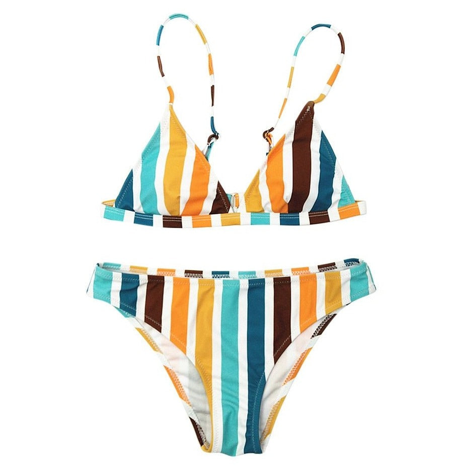 Striped Bikini Set