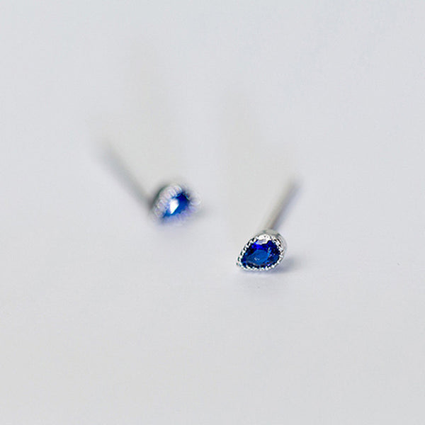 925 Royal Blue Stud Earrings