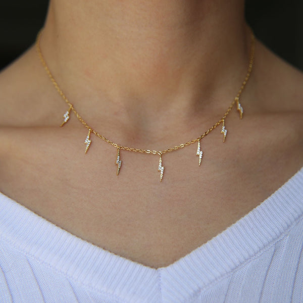 Crystal Lightning Choker