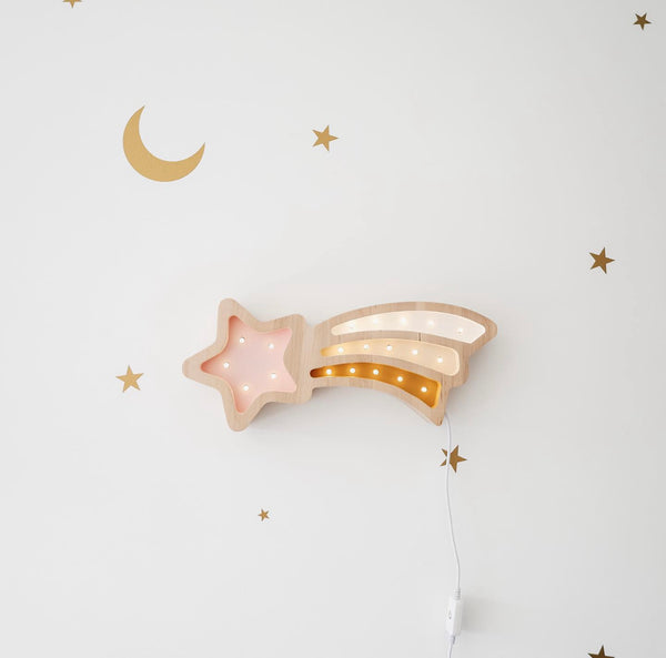 Shooting Star Wooden Lamp