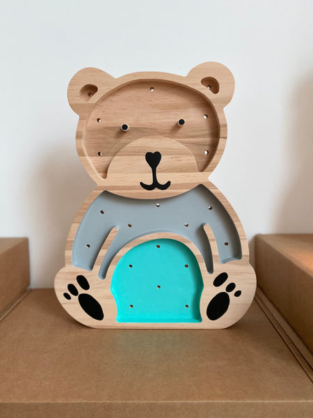 Teddy Bear Wooden Lamp