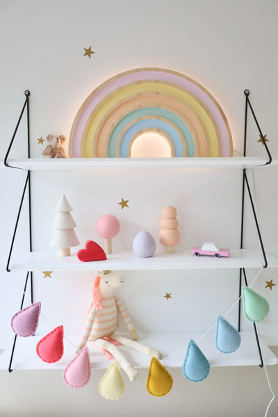 Rainbow Wooden Lamp