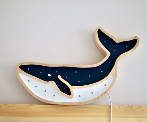 Whale Wooden Lamp