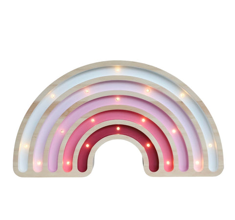 Rainbow Wooden Lamp -Large - Pink Ombre