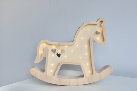 Rocking Horse Wooden Lamp
