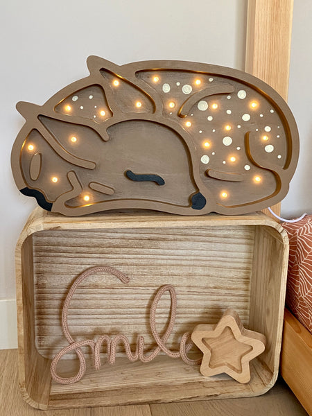 Fawn Wooden Lamp- Alder Wood