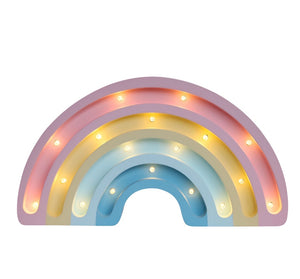 Rainbow Wooden Lamp -Medium- Pastel Matte