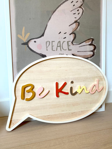 Be Kind - wall sign