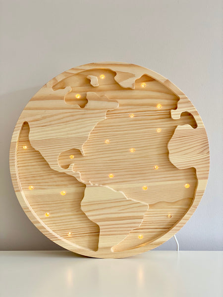 Earth Wooden Lamp - Pine Wood