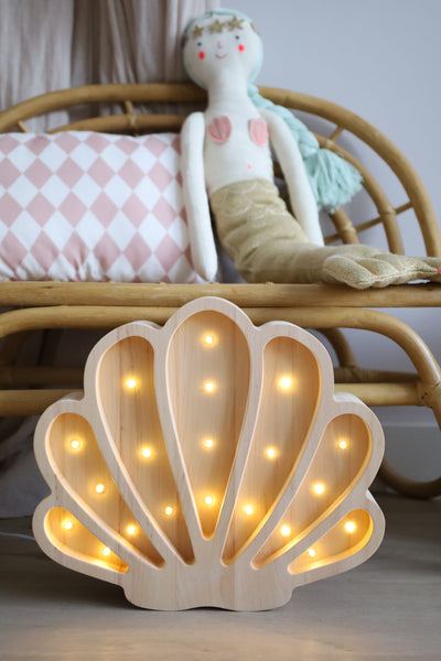 Seashell Wooden Lamp
