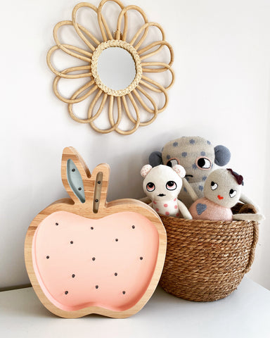 Apple Wooden Lamp