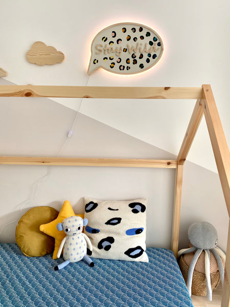 Stay Wild Wooden Lamp