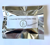 *NEW Infused Essential Oil Wicks PEPPERMINT PKG of 5