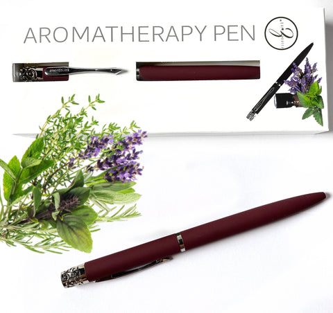 Essential Ink Aromatherapy Pen Bordeaux Red