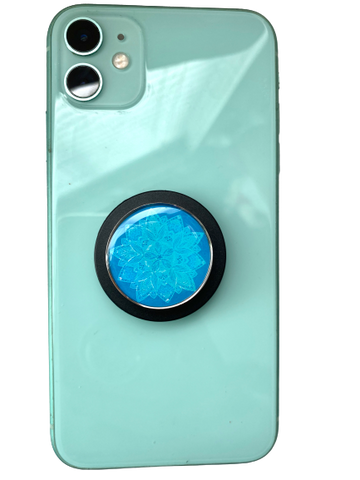 Snowflake Mandala Aromatherapy POP-Locket Phone grip