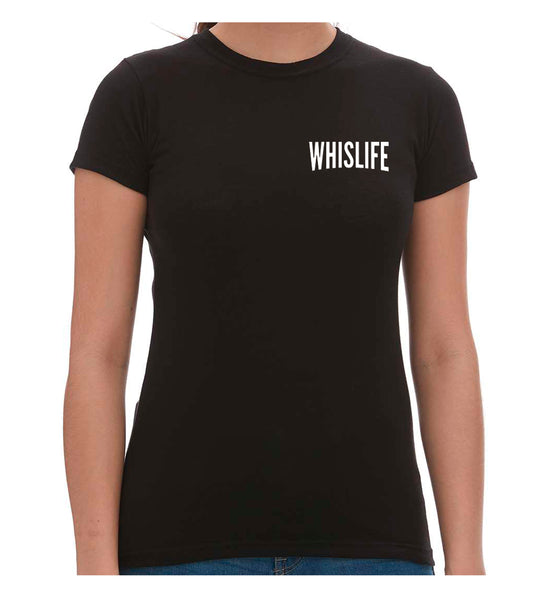 "Women's Short Sleeve Fitted T-Shirt - 4"" Solid Logo"
