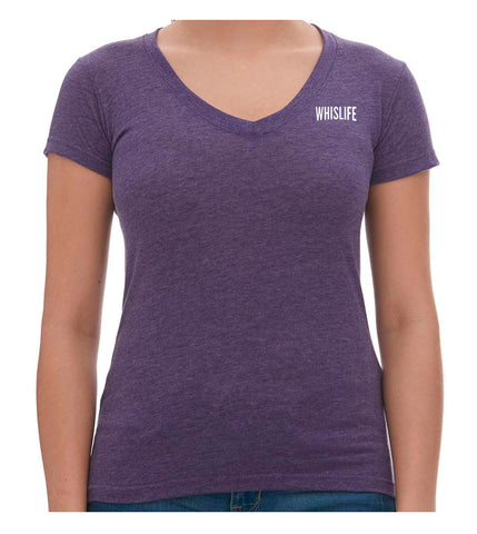 "Women's Short Sleeve V-Neck T-Shirt - 2"" Solid Logo"
