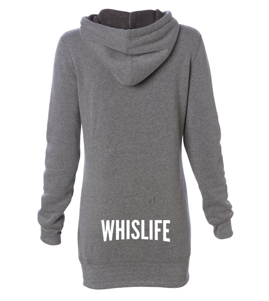 "Women's Midweight Pullover Dress Hoodie - 2"" Solid Logo"