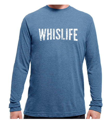 "Unisex Long Sleeve T-Shirt - 10"" Distressed Logo"