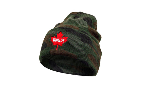 Knit Beanie - Camo Maple