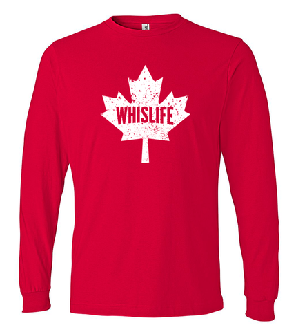 Unisex Lightweight Long Sleeve T-Shirt - Maple Logo