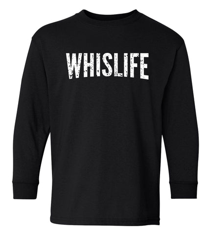Youth Long Sleeve T-Shirt - Distressed Logo
