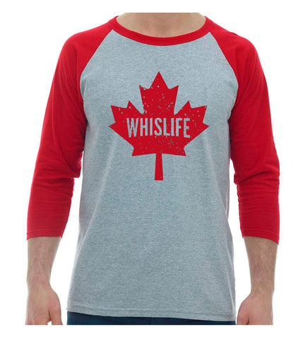 Unisex Baseball T-Shirt - Maple Leaf Logo
