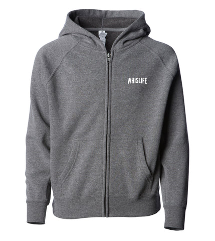 Youth Lightweight Raglan Zip Hoodie