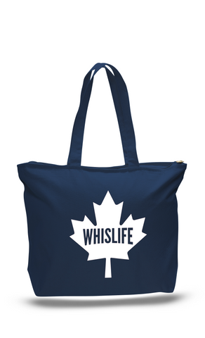 Canvas Zippered Tote Bag - Maple Leaf