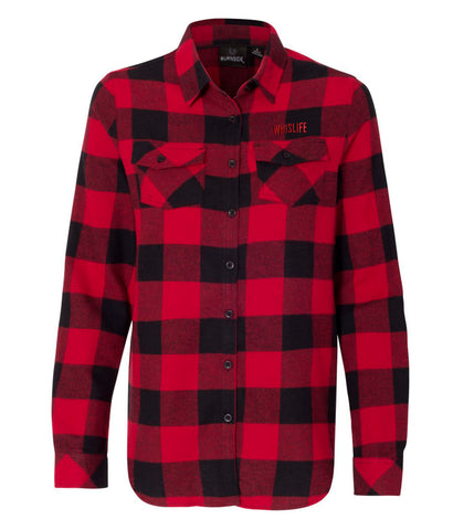 Women's Woven Plaid Flannel Shirt
