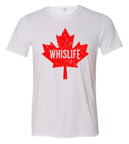 "Unisex Short Sleeve Triblend T-Shirt - 6"" Maple Leaf Logo"