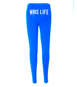"Women's Cotton Spandex Jersey Leggings - 8"" Buttocks Logo"