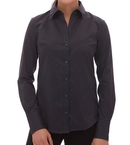 Women's Non Iron Dobby Dress Shirt