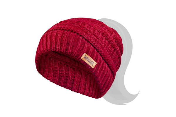 Women's Knitted Ponytail Toque