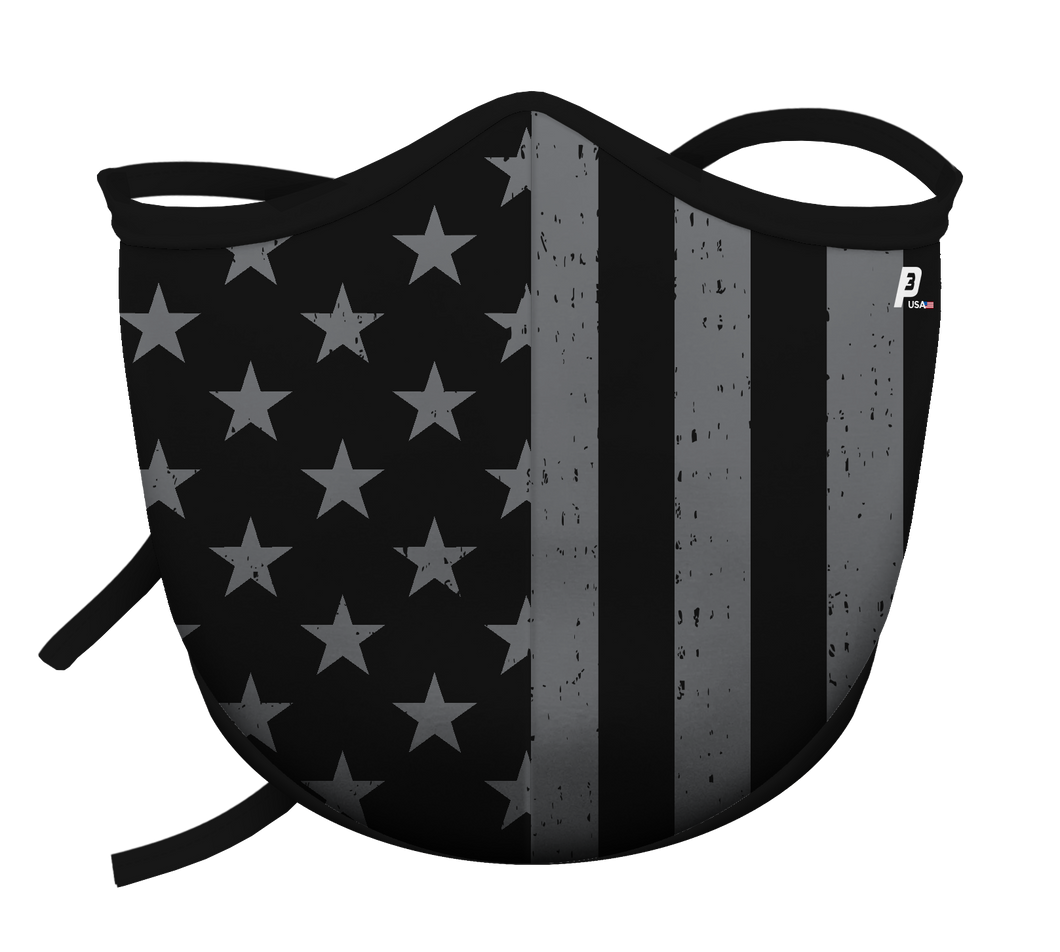 Gray USA Flag w/Ties