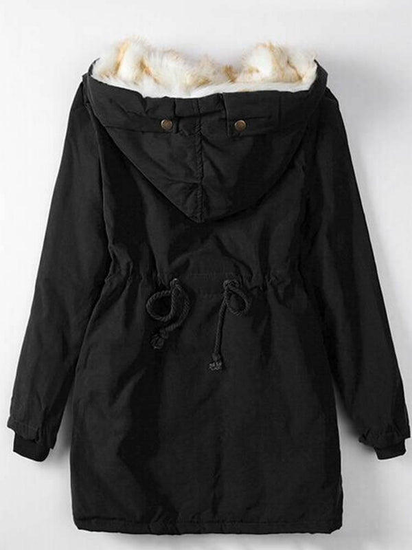 Loose Mid-Length Women's Overcoat
