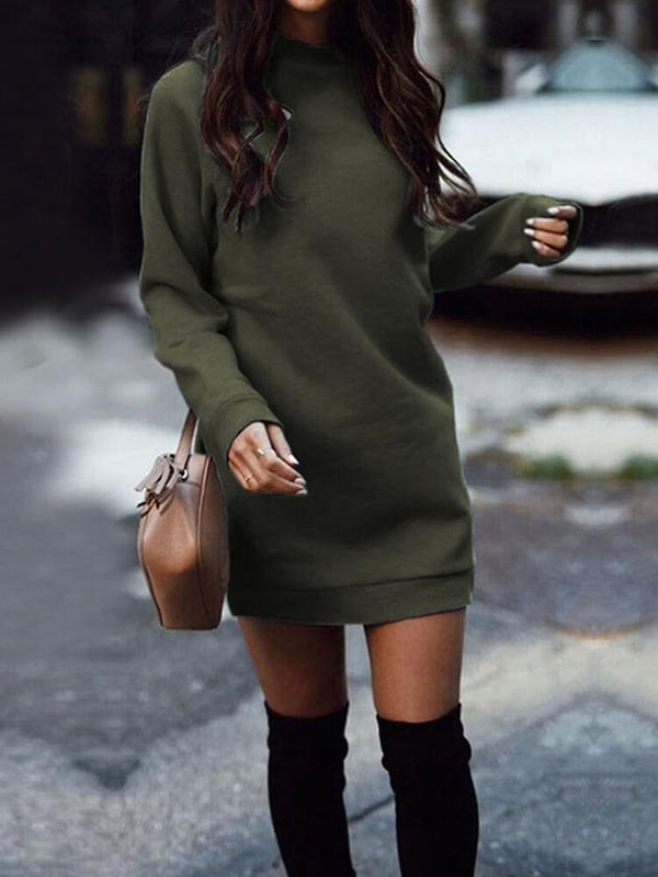 Long Sleeve Casual Women Mini Dress