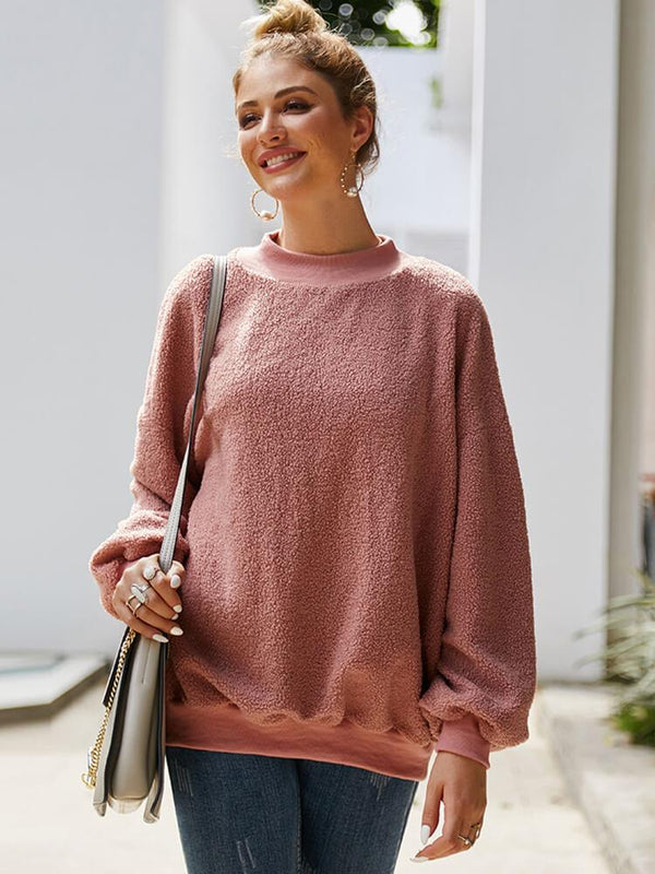 Crew Neck Long Sleeve Casual Sweatshirt