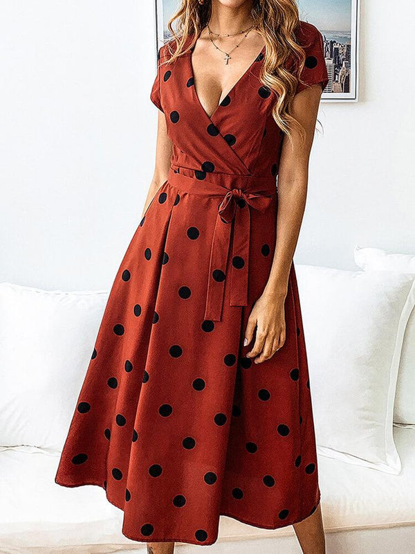 Polka Dots Vintage Elegant Dress