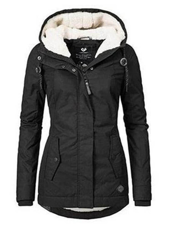 Women Winter Warm Hooded Jacket
