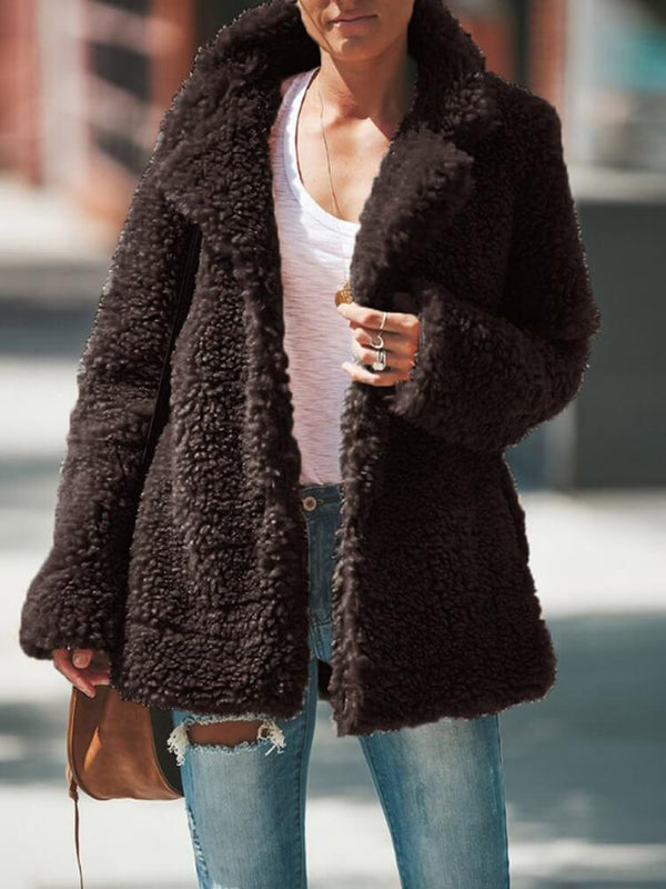 Winter Warm Date Plush Coat