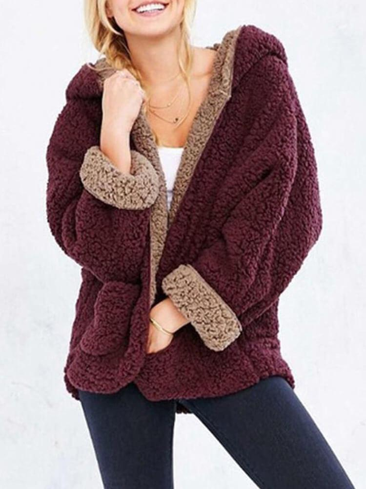 Pocket Plush Warm Women's Winter Coat