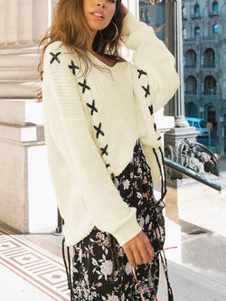 Shift V Neck Knitted Sweater