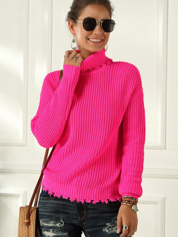 Elegant Turtleneck Women Date Sweater