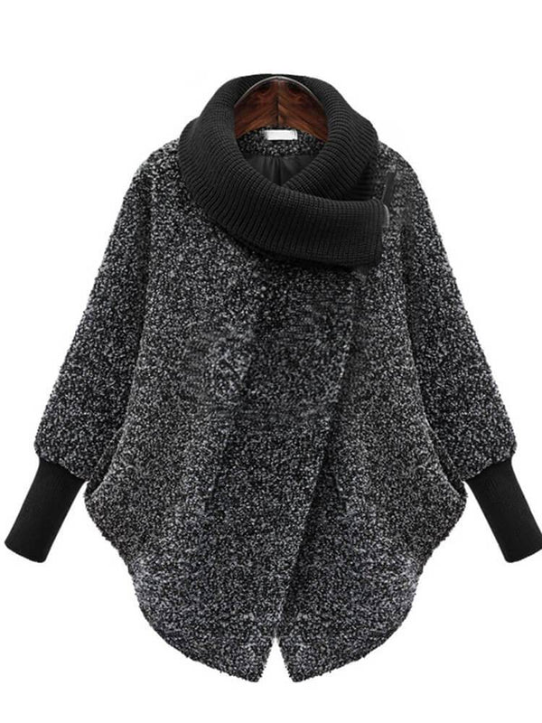 Shawl Collar Women Winter Cloak Coats