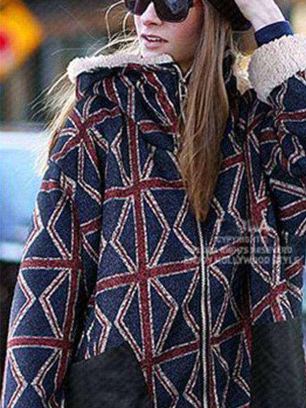 Asymmetrical Hooded Zipper Casual Women Winter Coats