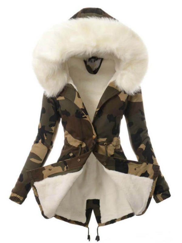 Casual Outdoor Winter Camouflage coat