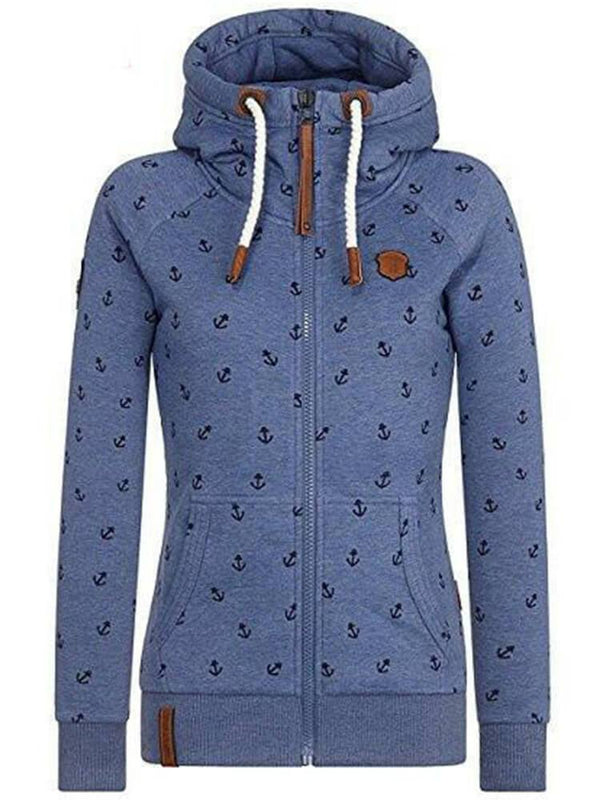 Casual Winter Zipper Hooded Sweatshirt Coat