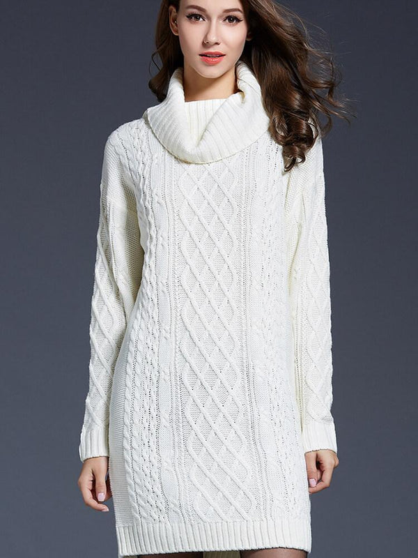 Turtleneck Elegant Date Work Sweater Dress