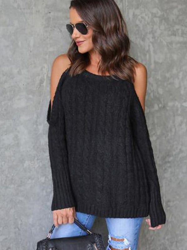 Sexy Cold Shoulder Women Sweater